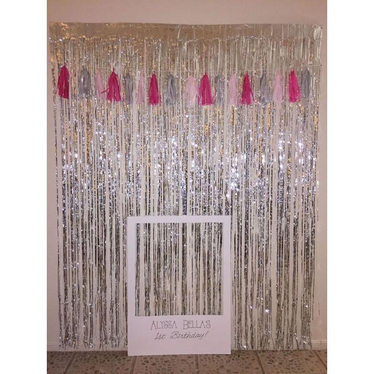 Rèm Kim Tuyến 1x3 mét / Rèm cửa , rèm trang trí , rèm kim tuyến Background 1mx3m