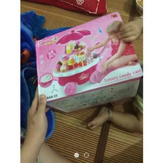 [XẢ KHO GIÁ SỐC] bộ đồ chơi cho bé – xe đẩy kem có nhạc có đèn | Bán Chạy