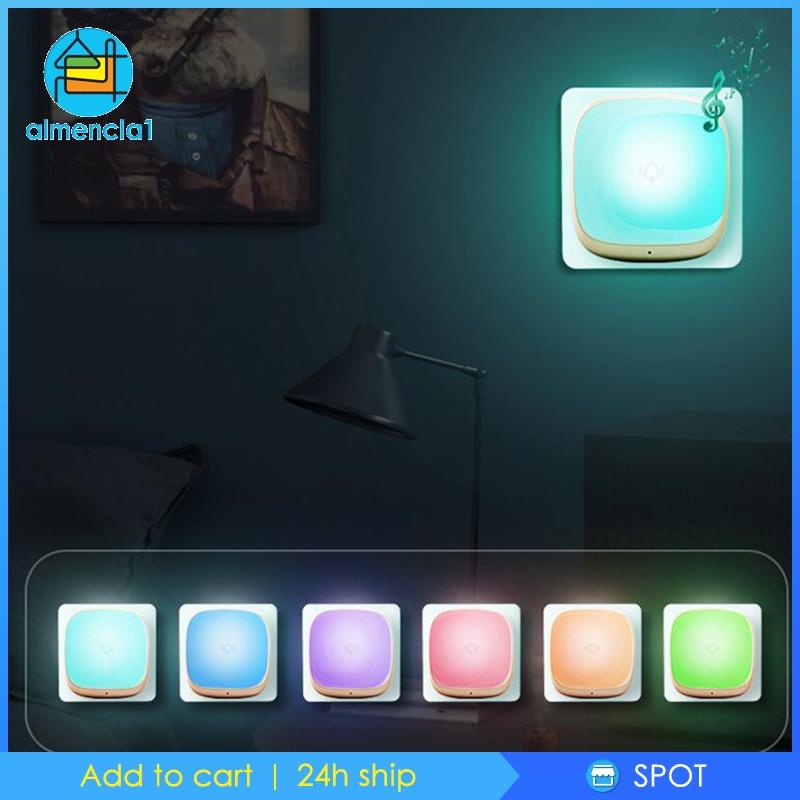 Chuông Cửa Không Dây 5 Mức Âm Thanh Đèn Led Màu Trắng Cho Bé