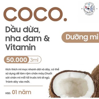 COCO Gel – Mascara Dưỡng Mi Dầu Dừa x Nha Đam