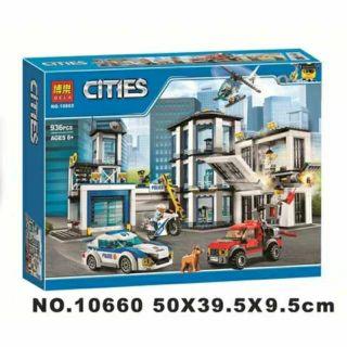 Lắp ráp kiểu lego city – cities trụ sở cảnh sát thành phố