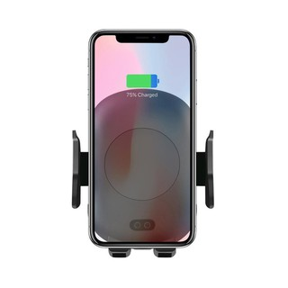 D-B🔥 C10 QI Wireless Charger 10W Automatic Infrared Induction Car Phone Holder USB Cable