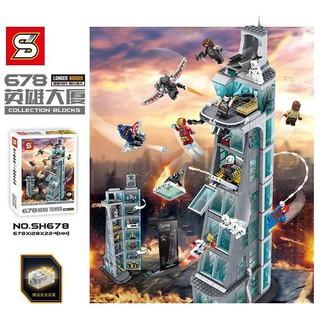 Mẫu Lắp Ráp Lego Trụ Sở Ninjago Sheng Yuan Mã Số SH678