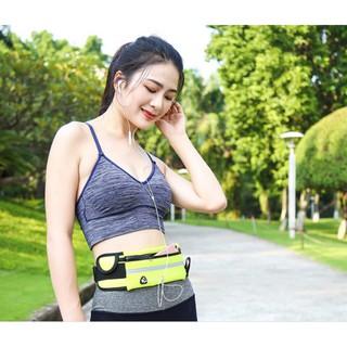 Túi đeo hông khi tập thể dục, chạy bộ - Túi vải đeo hông nam nữ có ngăn đựng đồ thumbnail