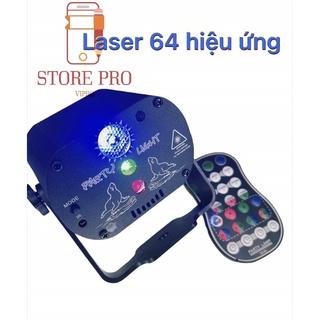Đèn laser Cảm biến theo nhạc 64 hiệu ứng 4 chế độ chớp sân khấu ánh sáng laser cực phẩm chớp theo diệu nhạc thumbnail