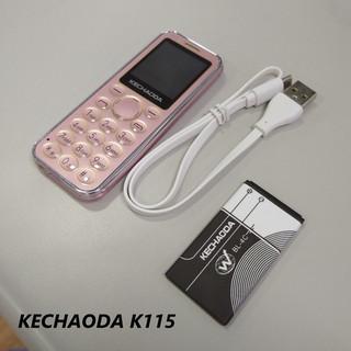[CHÍNH HÃNG] Điện thoại mini Kechaoda K115 kiêm tai nghe bluetooth nhỏ gọn 3 sóng siêu mỏng BH 12 tháng