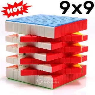 Rubik 9×9 Đẹp, Xoay Trơn, Không Rít, Độ Bền Cao. Đồ chơi Rubik 9 Tầng Stickerless