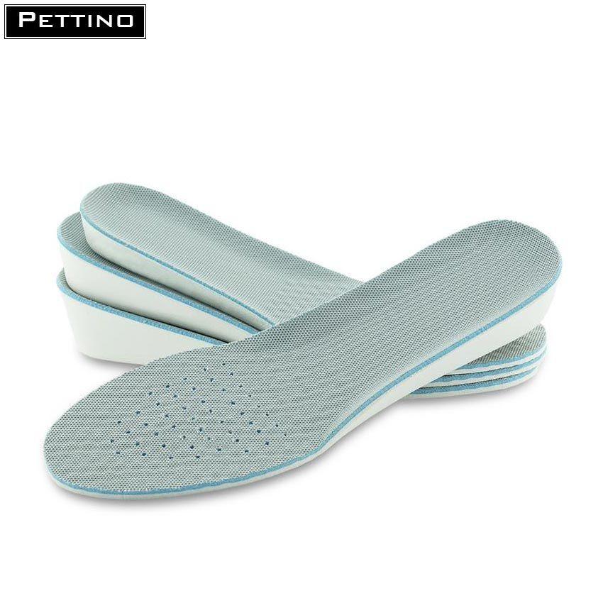 [Tăng Chiều Cao] Cặp Lót giày nam cao cấp tăng chiều cao 1.5cm - 3.5cm êm chân, thoáng khí và khử mùi - PETTINO - TX02
