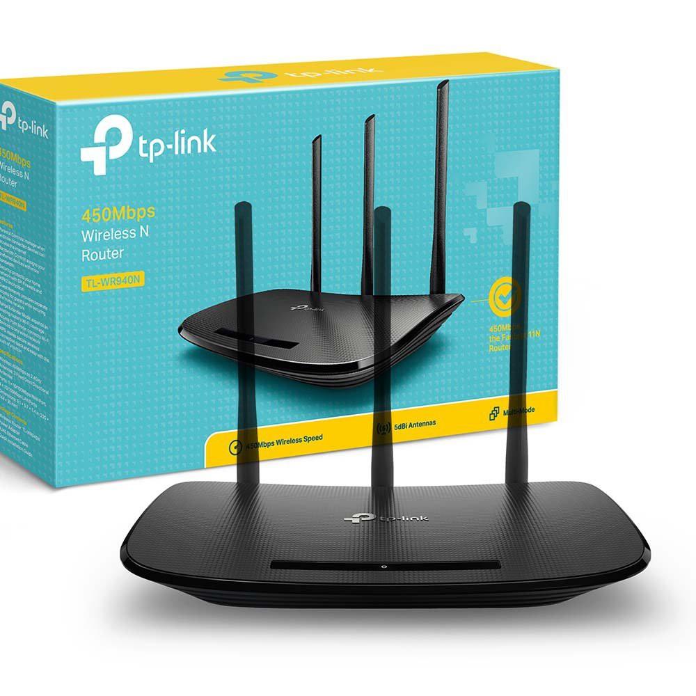 [Mã 267ELSALE hoàn 7% đơn 300K] Bộ phát Wi-Fi TP-Link TL- WR940N Chuẩn N Tốc Độ 450Mbps