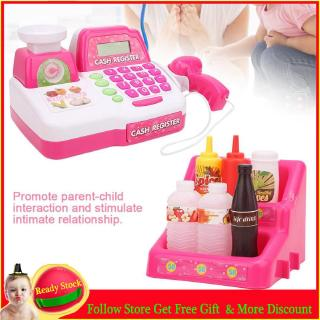 Punk Electric Highly Simulation Cash Register Toy Children Educational Pretend-Play