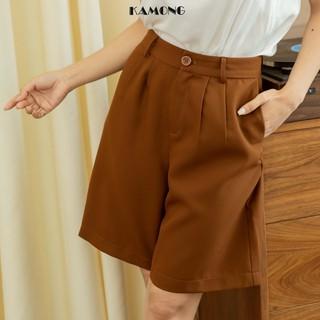 Quần short nữ ngố cạp cao KAMONG đủ màu, đủ size Q004 thumbnail