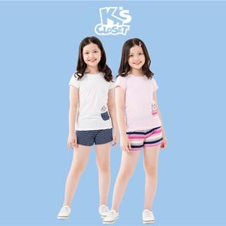 Bộ Quần Áo Cộc Tay Bé Gái (3 - 9 Tuổi) K's Closet K158TES TMMN