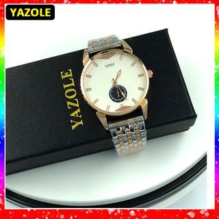 Đồng hồ nam Yazole Z405 dây thép sang trọng thumbnail