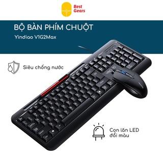Bộ bàn phím chuột ❤️FREESHIP❤️ văn phòng Yindaao V1-Max Có Dây Chống Tiếng Ồn