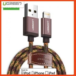 [SHIP THẦN TỐC] Cáp sạc USB Lightning 0.5m Ugreen 40688 cho iPhone 5/6/7 Plus, iPad vỏ bọc lưới chuẩn MFI Apple
