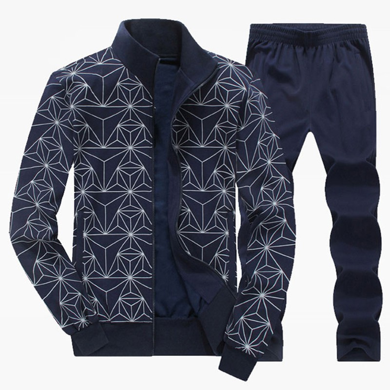Wandergo Men Sport Suit Knitted Tracksuits Autumn Winter Big Size 6XL 7XL 8XL