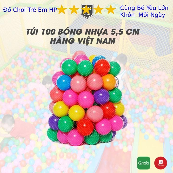 Túi 100 quả bóng nhựa cho bé vui chơi