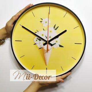 Đồng hồ treo tường ✳️ 10 MẪU - FREESHIP ✳️ Đồng hồ trang trí đẹp hình tròn mặt kính trang trí nhà cửa- DH088
