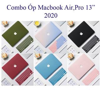 Combo 5in1 Case,Ốp Macbook M1 Air 13 2020,Pro 13 2020 Kèm Phủ Phím Cùng Màu (Tặng Kèm Miếng Dán Màn Hình,Nút Chống Bụi thumbnail