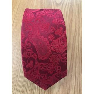 Cà vạt đỏ cao cấp họa tiết paisley