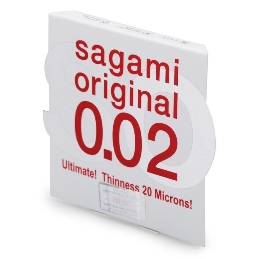 Bao cao su Sagami Original cao cấp siêu mỏng cánh 0.02mm
