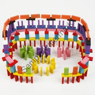 Đồ chơi trẻ em – Bộ đồ chơi Domino Gỗ nhiều màu | HÀNG MỚI