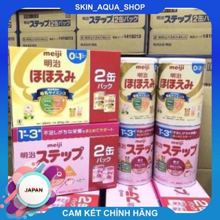 Combo 2 Hộp Sữa Meiji 800g lon Meiji số 0 và số 1 hàng Nhật nội địa thumbnail