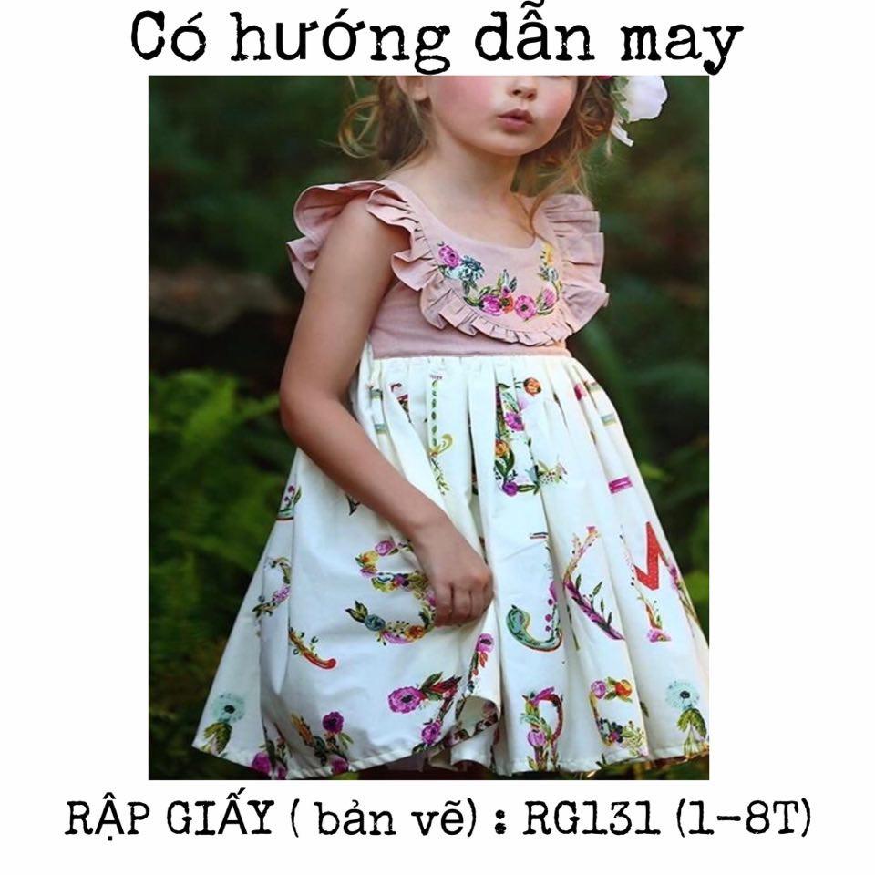 RẬP GIẤY( bản vẽ)_ RG131_rập váy bé gái