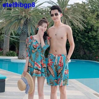 2021 đồ bơi cặp đôi mới của phụ nữ bảo thủ cỡ lớn giảm béo bụng đi biển chống nắng đồ bơi sexy bộ đồ mùa xuân thumbnail