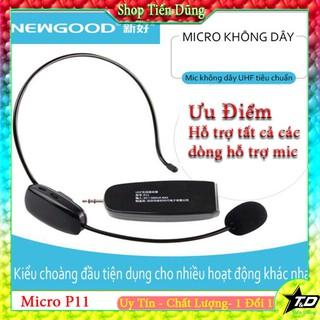 [Mã ELMS5 giảm 7% đơn 300K] Mic trợ giảng không dây Newgood P11 chạy sóng UHF phù hợp tất cả dòng máy hỗ trợ mic