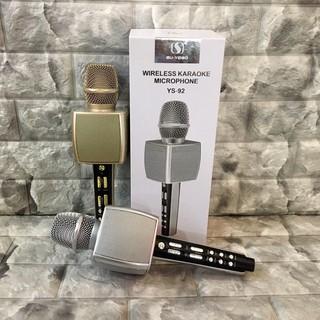 Mic karaoke ys92 kiêm bluetooth karaoke di động dùng làm loa trợ giảng , âm thanh to rõ ràng , mic hát nhẹ