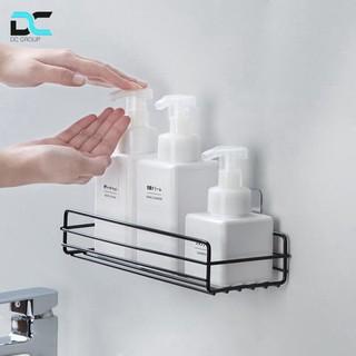 Kệ đa năng nhà tắm chữ nhật, đựng gia vị gắn tường, đựng đồ phòng ăn không rỉ kèm miếng dán siêu dính