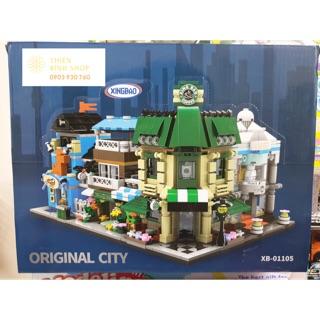 Combo 4 hộp Lego Lắp Ráp Thành Phố Mini 4 in 1