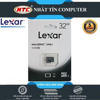 [Mã ELFLASH5 giảm 20K đơn 50K] Thẻ nhớ MicroSDHC Lexar 32GB Class 10 U1 100Mb/s (Xanh)