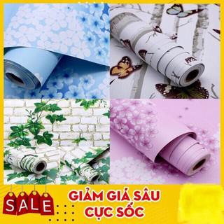 5m giấy dán tường sẵn keo nhiều mẫu (dài 5m x rộng 45cm) sản phẩm bền ,đẹp thân thiện môi trường.