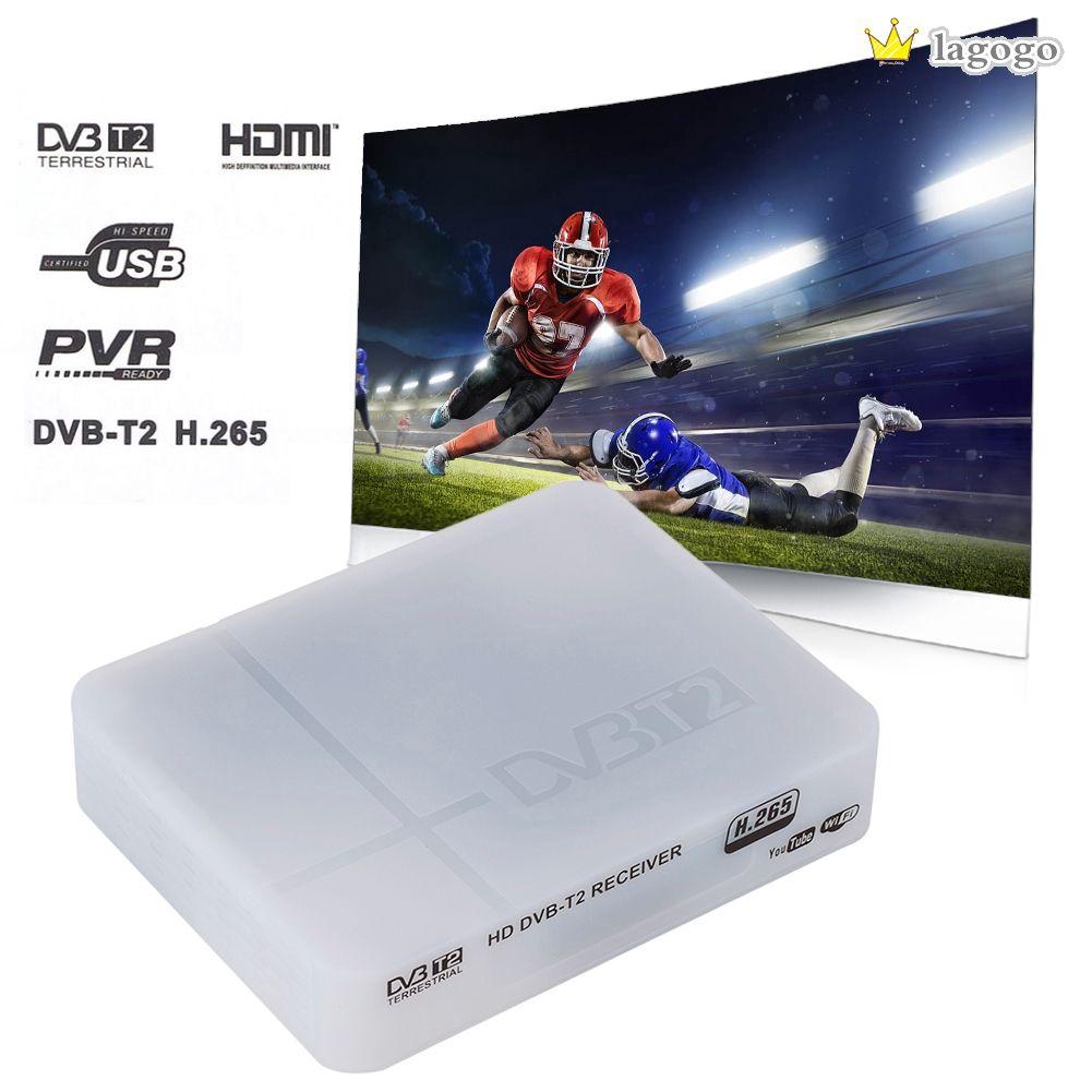 High Definition TV Box Receiver Digital Terrestrial 1080P DVB-T/T2 Protocol H.265 TV Box VGA AV Tuner Receiver Lagogo