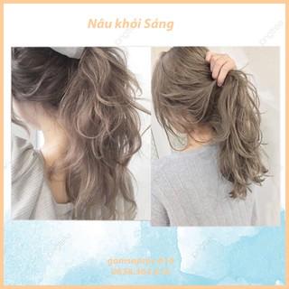 Thuốc nhuộm tóc Nâu khói sáng không tẩy lên từ nền tóc đen (TẶNG KÈM OXY TRỢ NHUỘM + GĂNG TAY) thumbnail