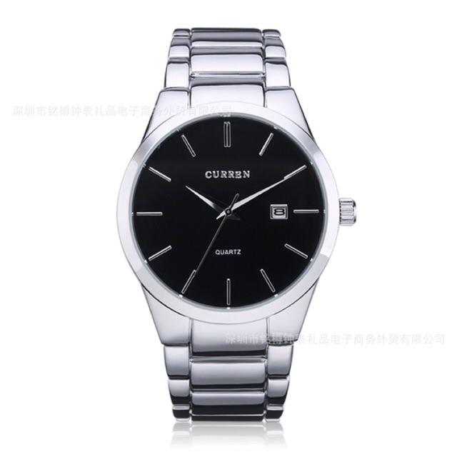 Đồng hồ nam Curren dây kim loại hàng công ty size chuẩn 40mm
