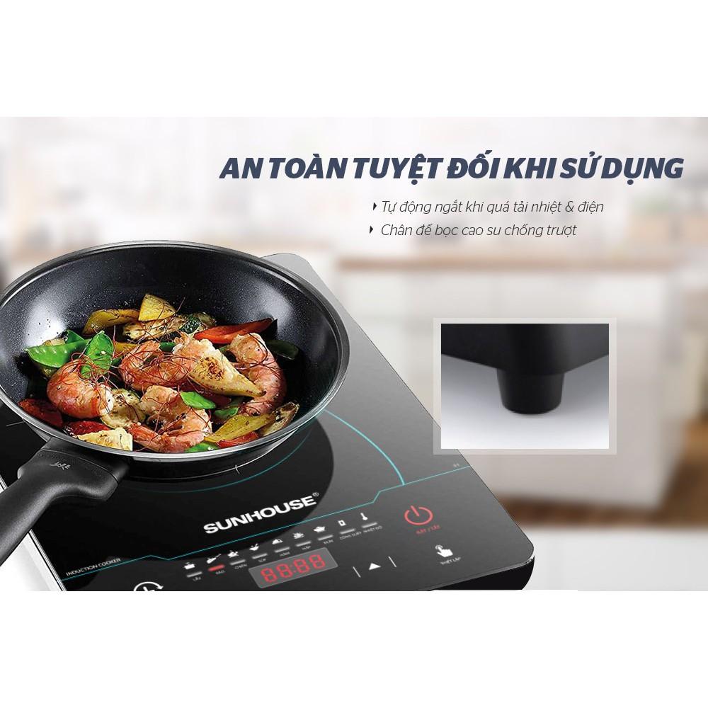 Bếp Điện Từ Cảm Ứng Cao Cấp Sunhouse SHD6863 2200W, Tặng Kèm Nồi Lẩu