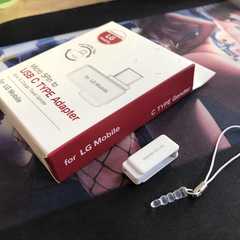 Đầu chuyển Type-C to Micro USB chính hãng LG