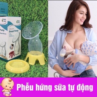 Cốc / phễu silicon hứng sữa ( hút sữa rảnh tay )