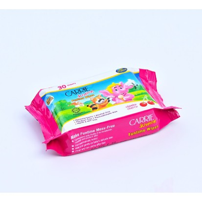 CARRIER JUNIOR - Khăn Giấy Ướt Carrie Junior Funtime Cheeky Cherry - 30 Tờ