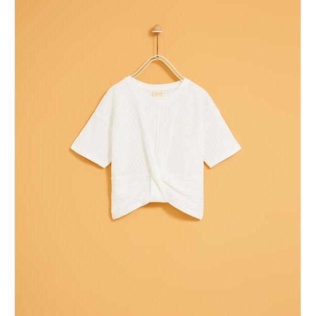 zara Knotted tshirt