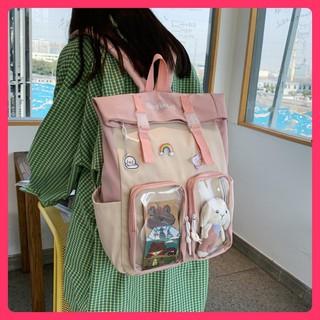 Cặp đi học đẹp rẻ cho nữ phong cách Kanken nhiều ngăn, balo xinh TẶNG huy hiệu dễ thương thumbnail