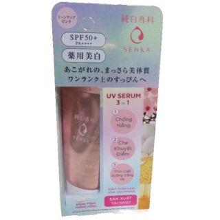 Tinh Châ t Dươ ng Tră ng Da Senka White Beauty Serum In CC Spf50 Pa (40g)