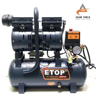 Máy nén khí sạch mini bình 9L ETOP – nén khí chống ồn- BH 12 Tháng