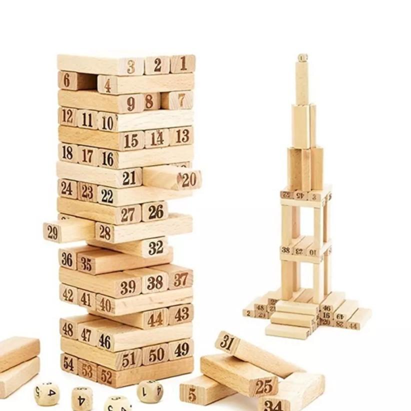 Sỉ 10 bộ đồ chơi rút gỗ xả stress 54 thanh mini