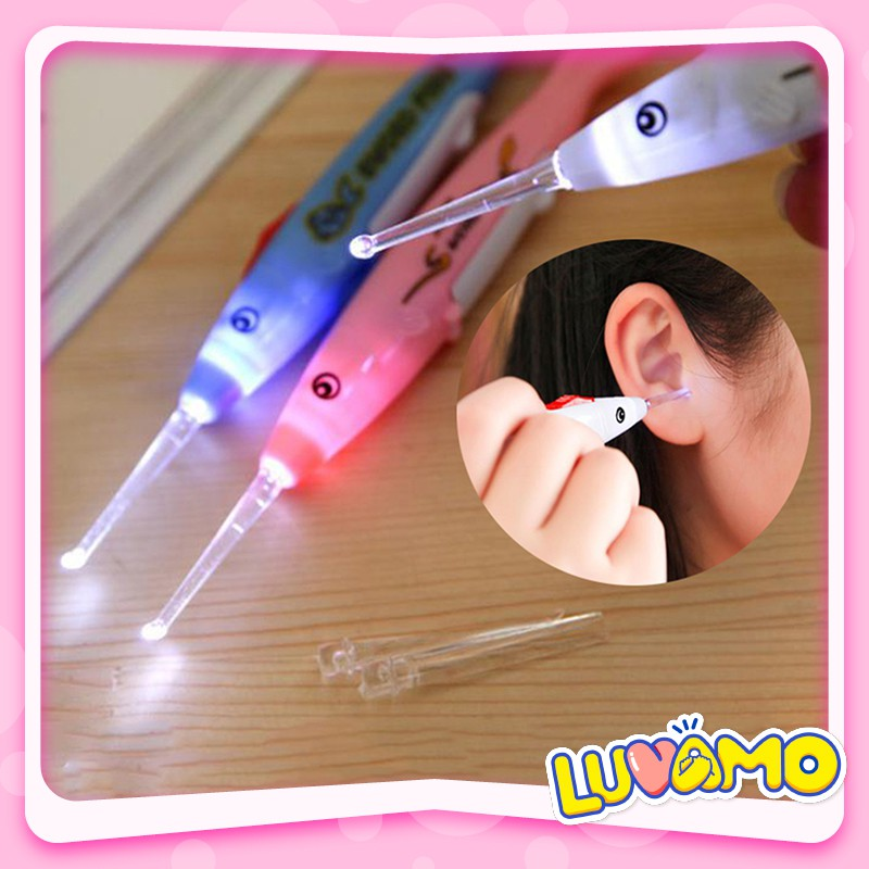 Lấy ráy tai cho bé có đèn có 3 đầu dò dễ dàng tháo lắp CS13