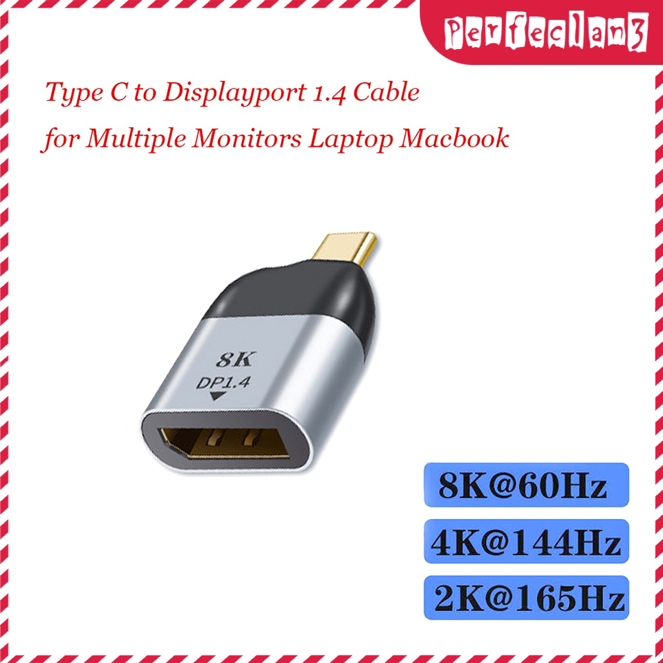 Cáp Chuyển Đổi Cổng Usb C Sang Dp 8k 60hz Cho Macbook Pro