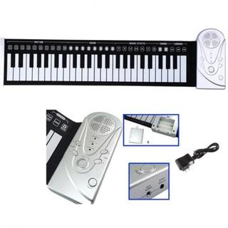 Đàn piano điện tử bàn phím cuộn dẻo 49 keys (Trắng)